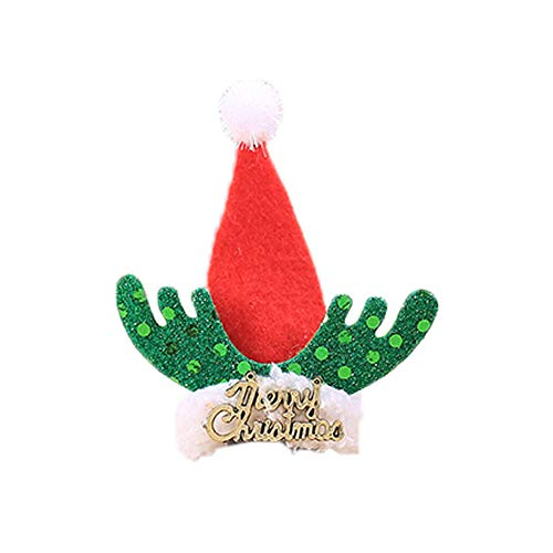 Willsa Christmas Santa Claus Wine Bottle Cover Table Decor Christmas Bottle Cap Party ()