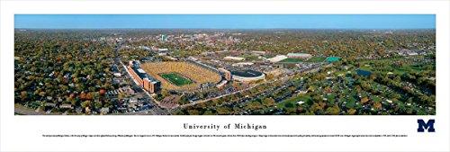 University of Michigan - Stadium Aerial - Blakeway Panoramas Unframed College Sports Posters ()
