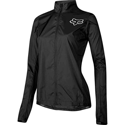 Ladies Racing Jacket - Fox Racing Attack Wind Jacket - Women's Black, L