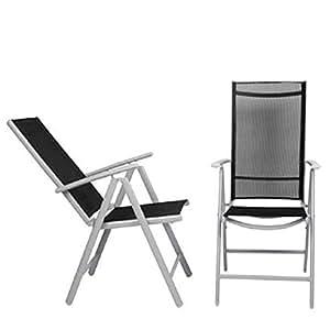 Aluminio silla plegable (7posiciones, 2unidades