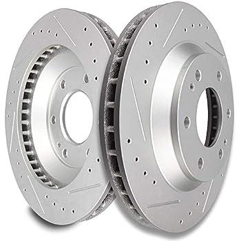 Rear Discs Brake Rotors /& Ceramic Pads For 2002 2003 2004 2005-2009 GMC Envoy