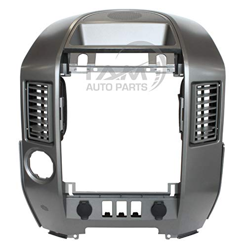 Trim Surround Radio - IAMAUTO 03450 Instrument Panel Center Radio AC Control Bezel With Center Speaker For 2004 2005 2006 Nissan Titan LE SE Armada LE SE (For Models Equipped Without Navigation and With CD Changer)