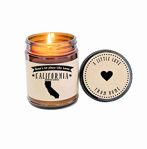 California Scented Candle State Candle Homesick Gift No Place Like Home Thinking of You Holiday Gift -