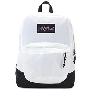 Jansport Superbreak Backpack (Black label white)