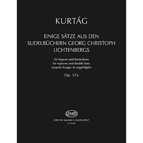 Einige S tze aus der Sudelb chern G. Chr. Lichtenbergs, Op. 37a EMB Series Softcover by Gy rgy Kurt g Pack of 2
