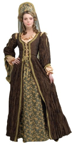Anne Boleyn Dress (Rubie's Costume Grand Heritage Collection Deluxe Anne Boleyn Costume, Brown, Medium)