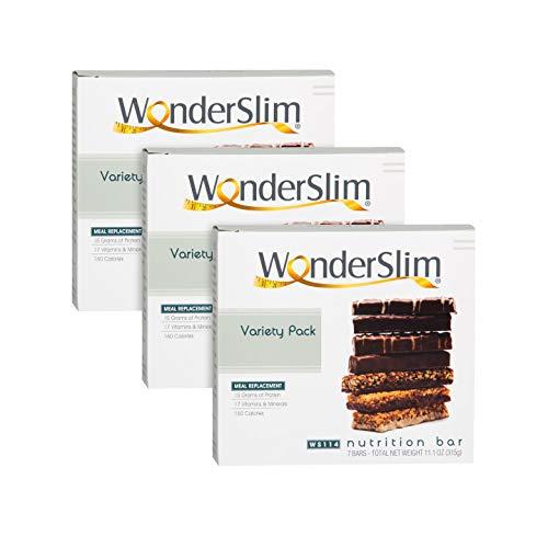 WonderSlim High Protein Meal Replacement Bar - High Fiber, Kosher, Variety Pack - 3 Box Value-Pack (Save 5%) by WonderSlim (Image #5)