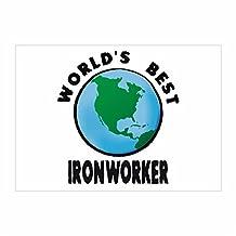 Idakoos - WORLD'S BEST Ironworker - Occupations - Sticker Pack x4