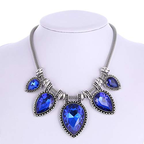 AISHIPING Fashion Statement Choker Necklace for Women Glass Heart Wedding Fine Jewelry Gift