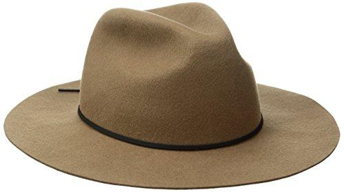 Coal Men's the Dex Wide Brimmed Hat Wool Felt Fedora, Kha...