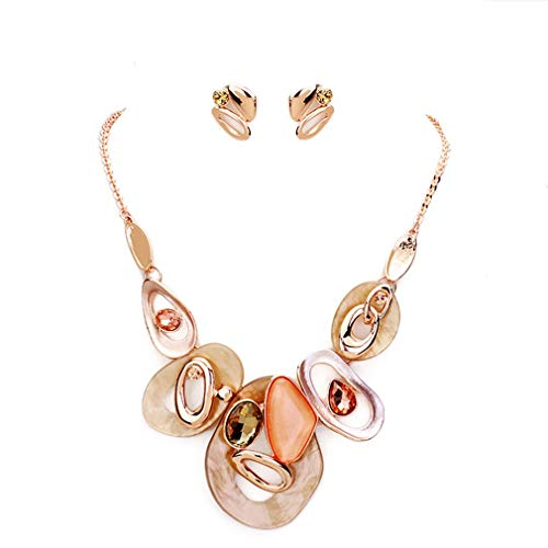 Rose Gold Coloured Costumes Jewellery - Urban Chic Women Fashion Jewelry Colored