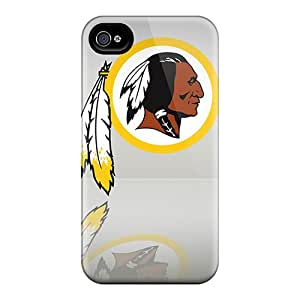 Iphone 4/4s TUl17404IISH Support Personal Customs Colorful Washington Redskins Pattern Perfect Hard Cell-phone Case -AnnaDubois