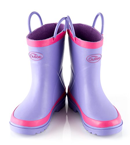 Pictures of Outee Kids Toddler Girls Rain Boots Natural CGLR17APUR11 6