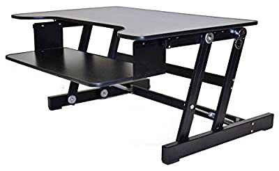 Rocelco ADR Basic Height Adjustable Sit/Stand Desk Computer Riser