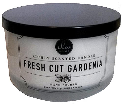 DW Home Fresh Cut Gardenia Scented Large 3-wick Dish Candle