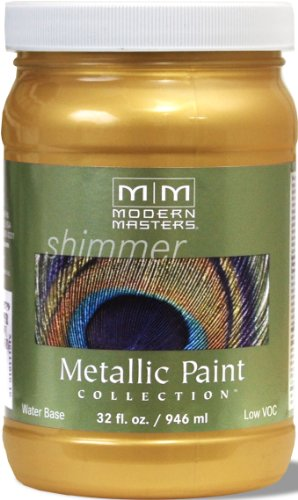 Modern Masters ME200-32 Metallic Pale Gold, 32-Ounce