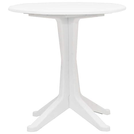 Festnight Table de Jardin Plastique Ronde Table à Manger ...