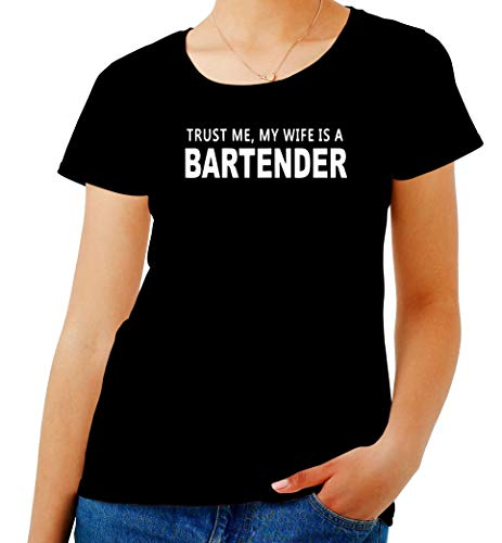 Bartender My IS BEER0296 Nero A Me Trust Shirt Wife Donna T w6SqvCY