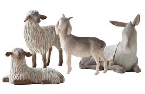 Willow Tree Sheltering Animals Ornament.