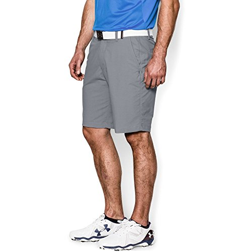 (Under Armour Men's Match Play Shorts, Steel (035)/Steel, 34)
