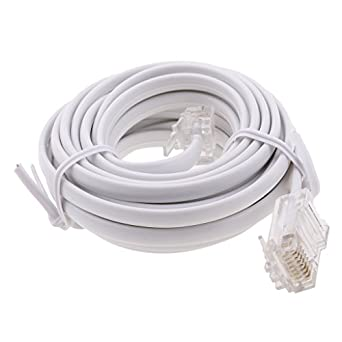 Baosity RJ11 To RJ45 Modem Cable Connect Router To ADSL Filtered RJ45 Socket White