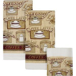House Blend Cafe Latte Dish Towels Cloths