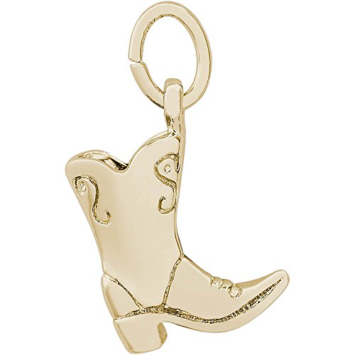 Rembrandt Charms Cowboy Boot Charm, 14K Yellow Gold by Rembrandt Charms