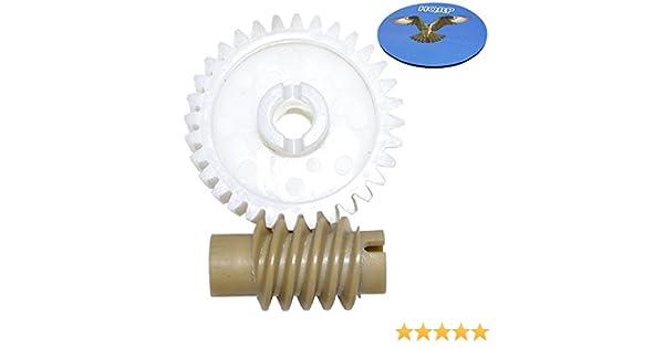 2-Pack HQRP Worm Gear for Master Mechanic 551-4MM 501-4MM 141-4MM Garage System