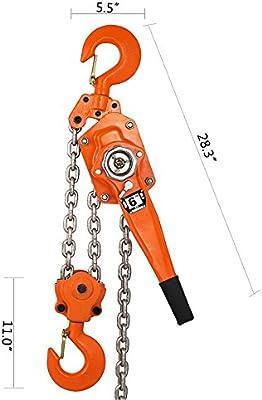 Chain Lever Hoist Come Along Ratchet Lift 3.0 Ton Capacity $0 SHIP 5/',10/',20/' FT