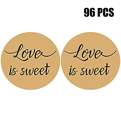 Amazon 96 2 Love Is Sweet Stickers Kraft Wedding Favor