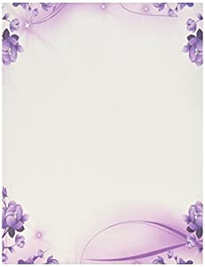 Purple passion stationery paper 100 sheets Blue bond paper