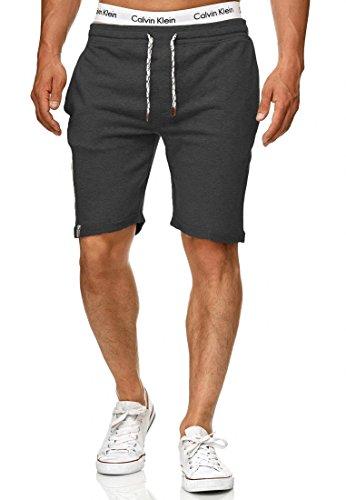 Indicode Herren Aldrich Sweatshorts m. Fleece-Innenseite & Kordel | Kurze Hose Shorts Sporthose Sommerhose Jogginghose Short Sweat Pants Joggingshorts Trainingsshorts f. Männer