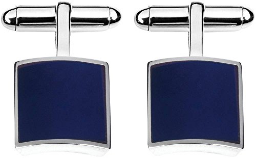 - Orton West Mens Sterling Silver Lapis Lazuli Square Cufflinks - Silver/Blue