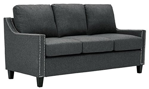 Homelegance Pagosa Sofa with Contour Arms and Nail Head Accent, Grey