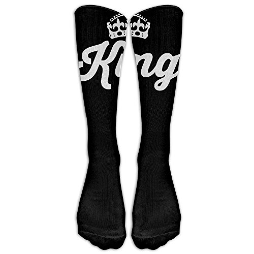 [King Lovers Couple Unisex Tube Sock Novelty Crew Fashion Novelty Tube Knee High Sports Socks] (King Triton Costume Accessories)
