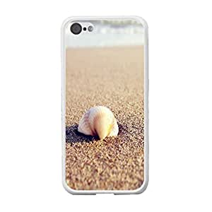 High Impact Combo Graphic Customized Design Mobile Phone Hard Plastic Iphone 5c Back Protective Case Cover Skin (seashell beach BY417)
