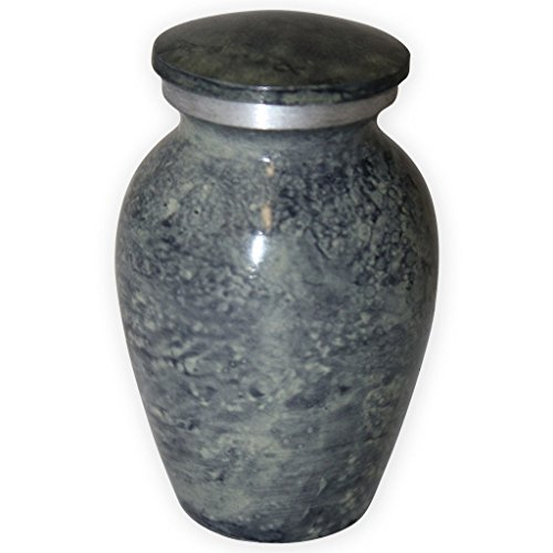 Beautiful Life Urns Apollonia Grey Keepsake Urn for Ashes - Small Size - NOT Intended for Full Cremation Ash Quantity - Iron Metal Urn