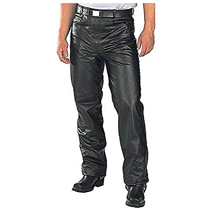4aaabc5817 Amazon.com  Xelement B7400  Classic  Men s Fitted Leather Pants - Black    28  Automotive