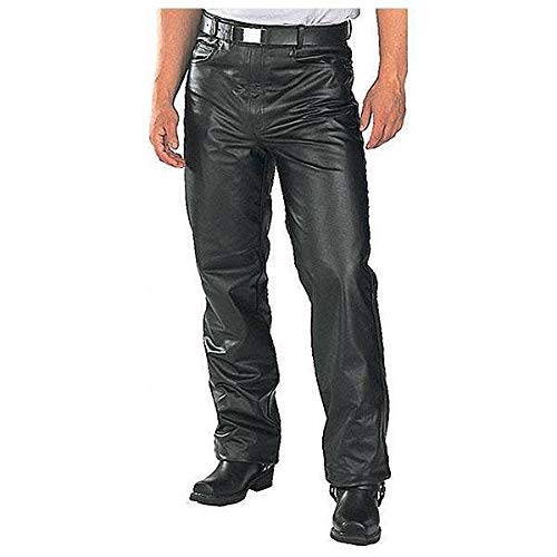 Xelement B7400 'Classic' Men's Fitted Leather Pants - 46