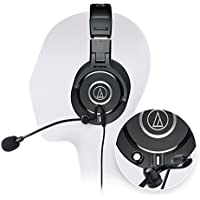 ​Audio-Technica ATH-M40x Professional Studio Headphone -INCLUDES- Antlion Audio ModMic Attachable Boom Microphone - Noise Cancelling w/ Mute Switch AND Blucoil Y Adapter - GAMING BUNDLE