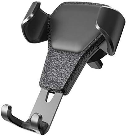 重力車の電話ホルダーユニバーサルエアアウトレットスキンパターンユニバーサルカーナビゲーションカーブラケット (Color : Black)