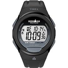 Timex Men's T5K608GP Ironman Traditional 10-Lap Black Resin Strap Watch