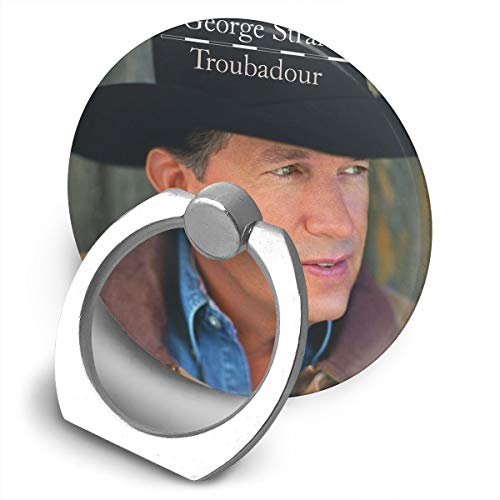 EdithL George Strait Troubadour Phone Ring Stand Holder Finger Grip Stand, Car Mount 360 Degree Rotation Universal Phone Ring Holder Kickstand for iPhone/iPad/Samsung