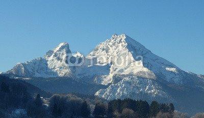 """Alu-Dibond-Bild 100 x 60 cm  """"Watzmann Berchtesgarden"""", Bild auf Alu-Dibond"""