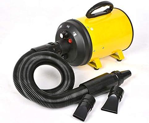 MZP Secador de Cabello Profesional para Pelo Perros Gatos Animales 2200W con Tubo Flexible Temperatura Velocidad Ajustable (Color : Yellow): Amazon.es: Productos para mascotas