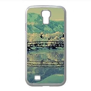 Bridge Winter Watercolor style Cover Samsung Galaxy S4 I9500 Case (Mountains Watercolor style Cover Samsung Galaxy S4 I9500 Case)