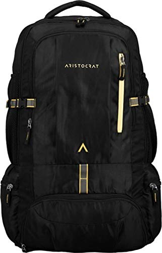 Aristocrat Hike Polyester 45L Hiking Rucksack Backpack | Travel Bags (Black)
