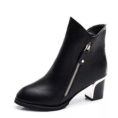 WINWINTOM Moda Mujeres Botas Boca de pescado Zapatos