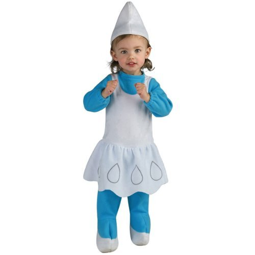 Smurfs Costume For Toddlers (The Smurfs - Smurfette EZ On Romper Child Costume Size 2-4)