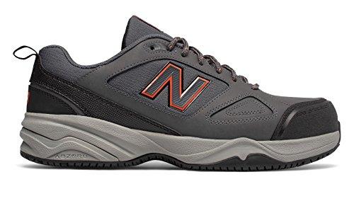 New Balance Steel Toe 627v2 Shoe Men's Training 10 Grey-Orange (Dissipative Slip Electrostatic Toe)